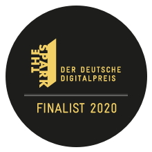 Logo of the finalists of the German Digital Award 2020
